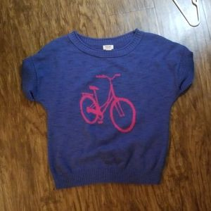 Bicycle sweater - cotton blend, small